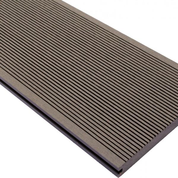 Vareprøve Terrassebord WPC komposittgulv massiv grå 20cm bredde