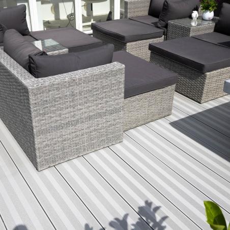Terrassebord XXL Kompositt Tjeldbergtinden lys grå